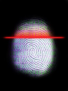 biometric thumb fingerprint scan
